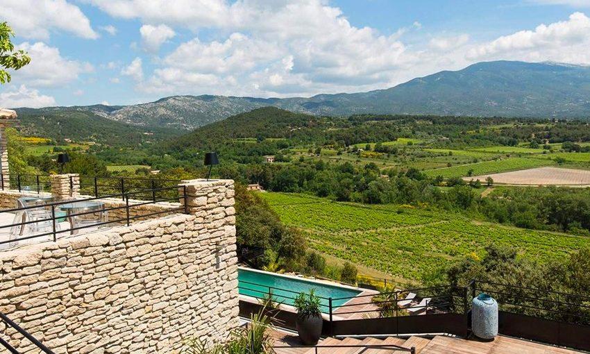 Hôtel avec piscine face au Mont Ventoux (Vaucluse)